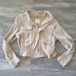 Nude Cropped Urban Outfitters Zip Up